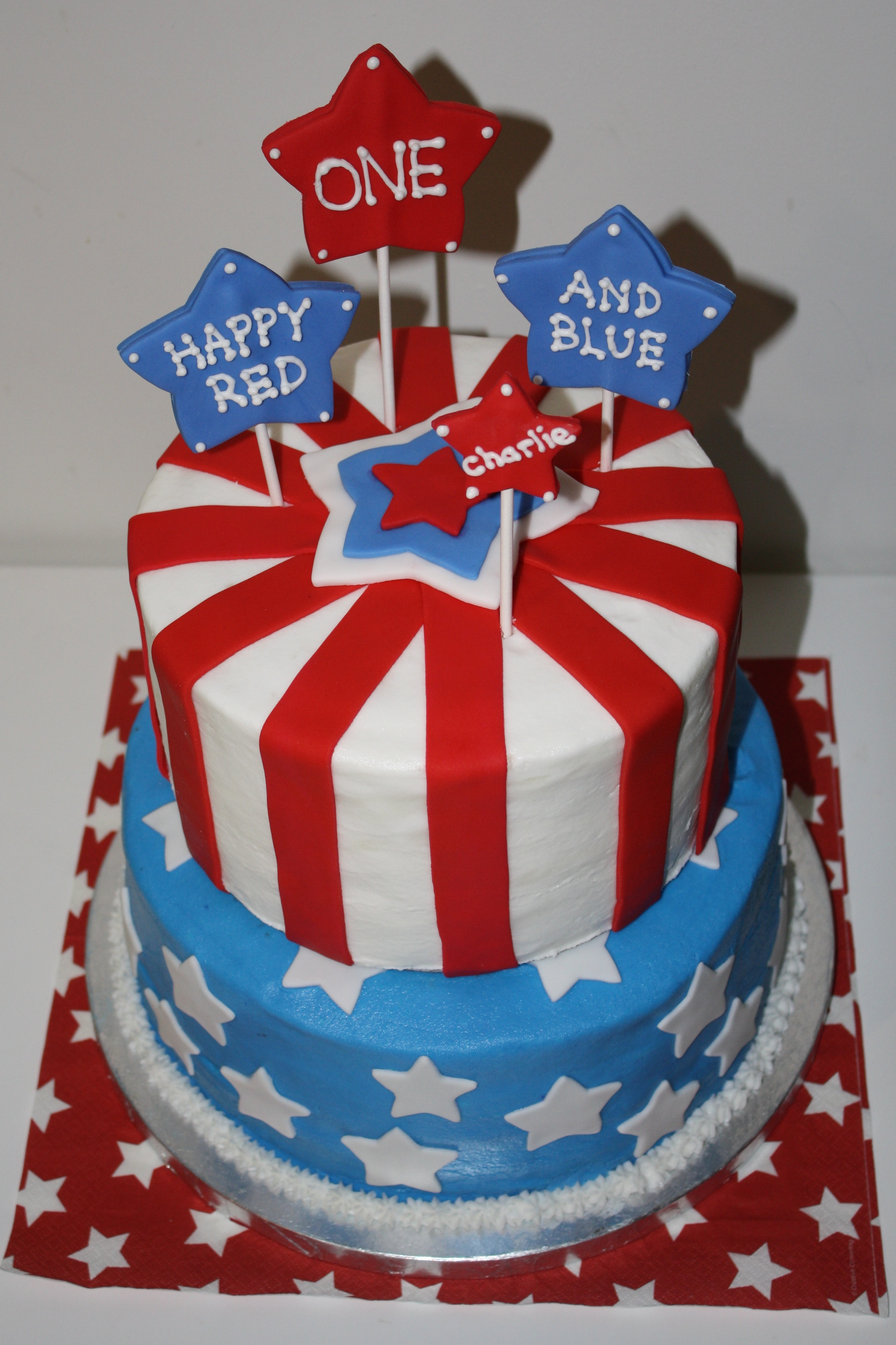 A Memorial Day 1st Birthday party~ Honeycombs Cookie Company