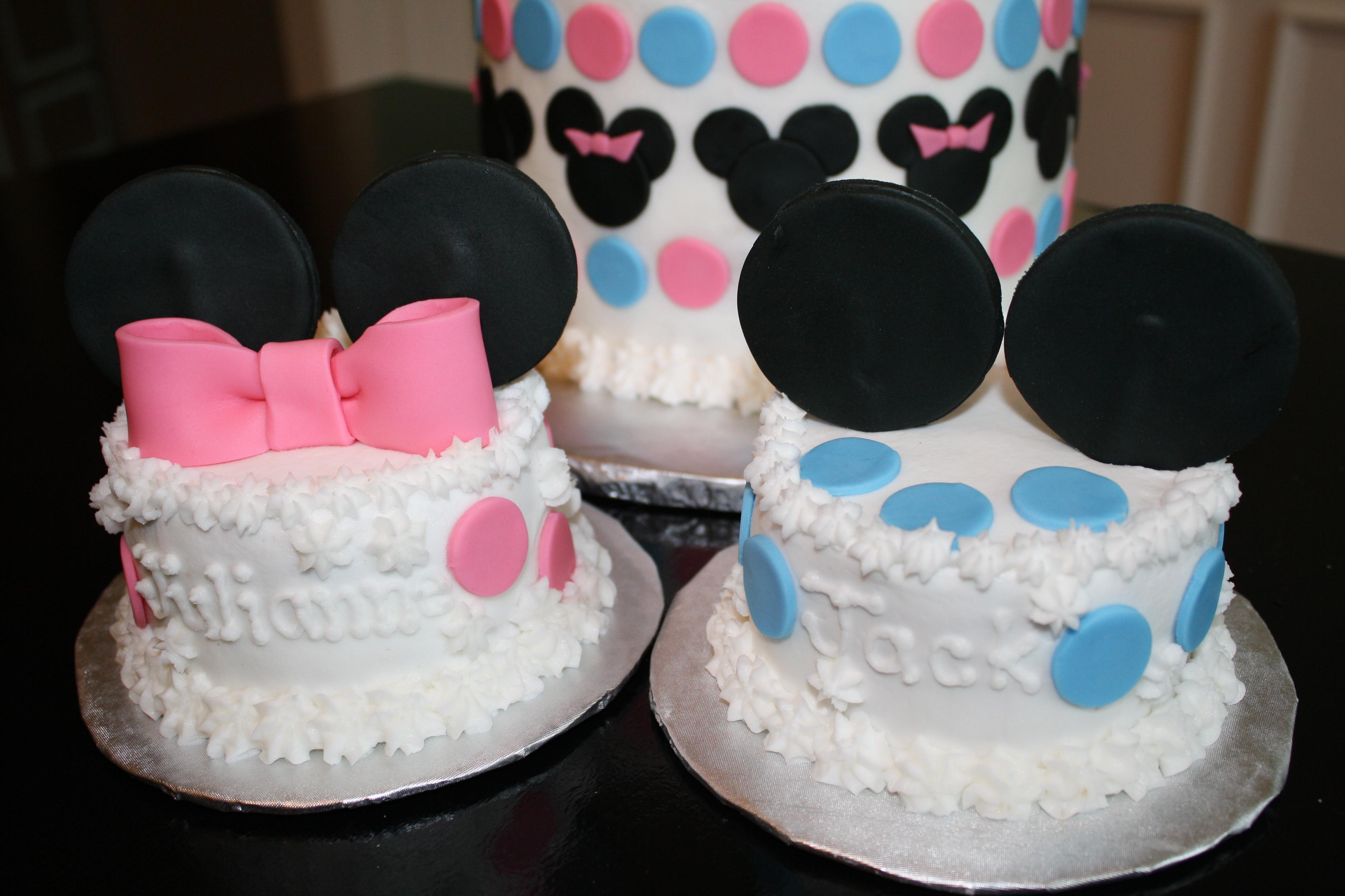 Wondrous Mickey And Minnie Babies Honeycombs Cookie Company Personalised Birthday Cards Veneteletsinfo